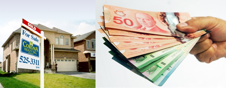 Cash Back Rebate - One Percent Hamilton Realty - Low Commission Rate - Corona Realty Inc. Sold Sign and Home